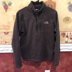 The North Face brown pullover sweater